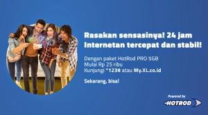 Daftar Paket Internet XL HotRod Pro 24 Jam