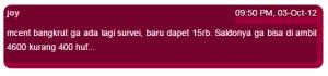 mCent Bangkrut
